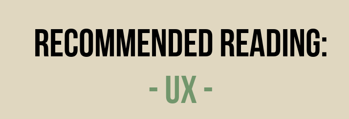 Recommended Reading UX